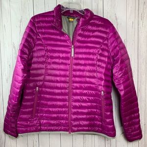Eddie Bauer coat jacket women's large purple